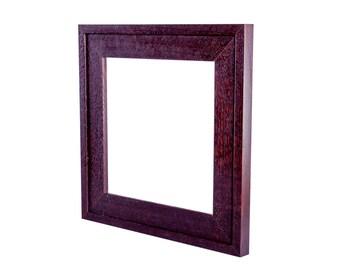 "8"" x 8""  tile frame in the Mission style, quarter-sawn fumed White oak frame"
