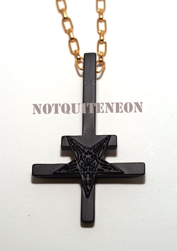 inverted cross necklace with 30 chain cross
