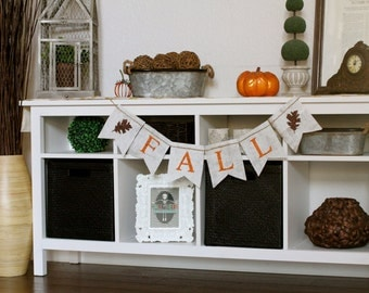 Items Similar To Give Thanks Burlap Banner Fall Sign