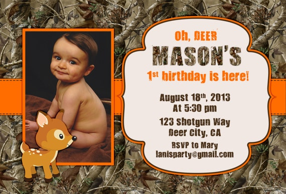 camo birthday invitations party package kit hunting oh deer, Birthday invitations