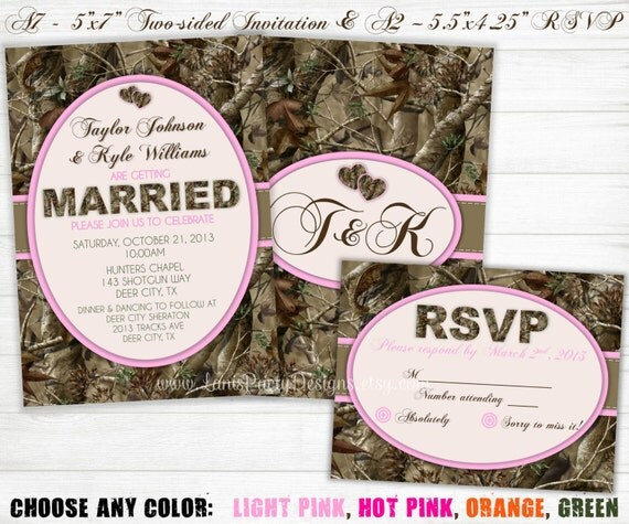 items similar to camo wedding invitation  hunting camouflage, Wedding invitations