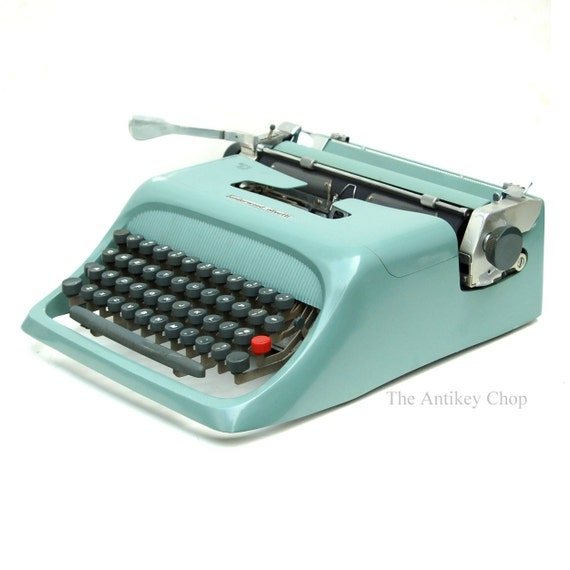 Revitalized Teal Olivetti Studio 44 Typewriter Professionally Refurbished Portable & Two New Ribbons