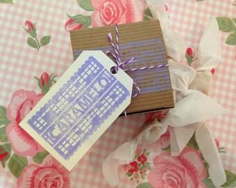 4 ounce Box of  Fleur de Sel Caramels