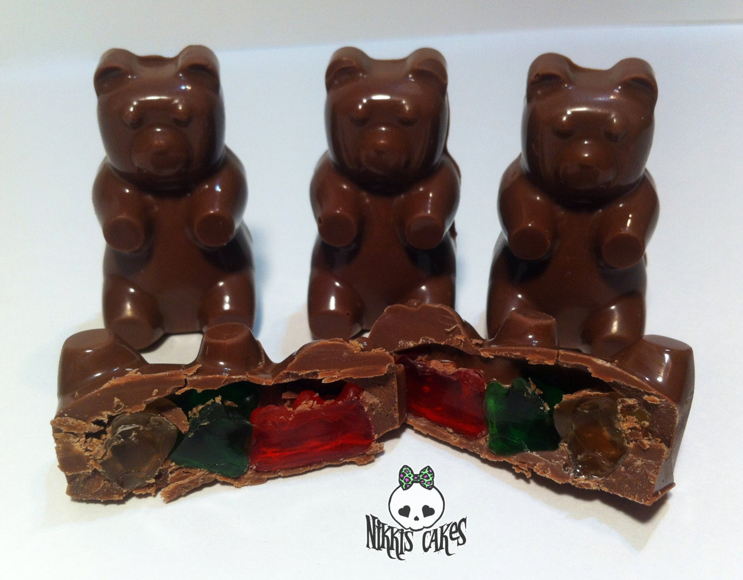 Muddy Bears. Chocolate Covered Gummy bears. One dozen large