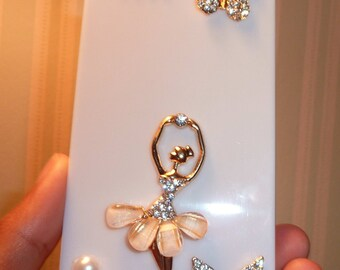 New Hot Fashion   phone case cover for iphone 5 case diamond cell phone protection shell White