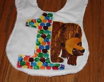Brown Bear Birthday Bib