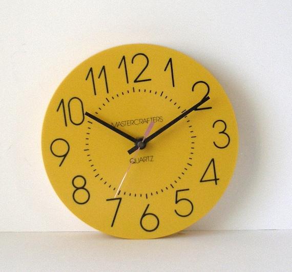 Mustard Yellow Kitchen Decor: Mastercrafters 8 In Mustard Yellow Kitchen Wall Clock USA