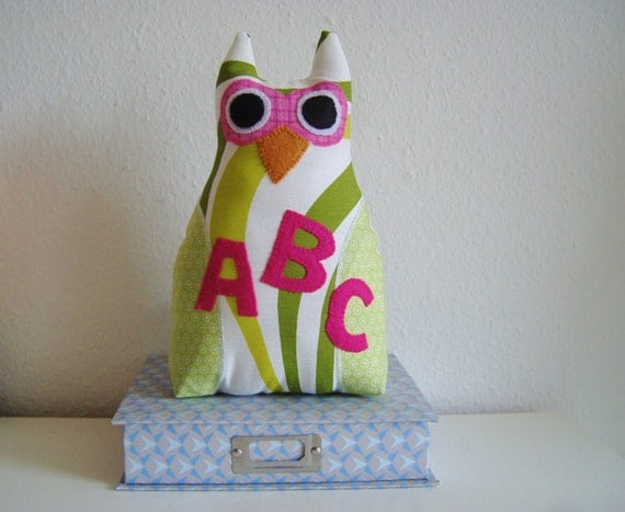 Wisdom owl pillow, Classroom decoration, Back to school plush toy