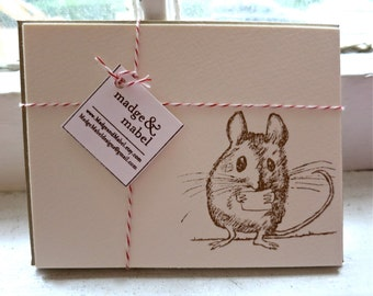 Tiny Field Mouse - Notecards Set of 8
