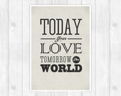 The Ramones - Today your love, tomorrow the world - Music Concept POSTER - Lyrics Poster -A3 11.7 x 16.5 in