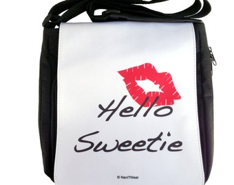 Doctor River Song Who Medium Geek Messenger Bag: Hello Sweetie