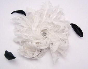 Bridal Feather Hair Accessory/ Headpiece/Fascinator   FREE DOMESTIC SHIPPING