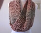 RESERVED  Custom Knit Snood Infiniti Scarf Shrug Moebius Circle Capelet Cowl Shawlet 57 Colors