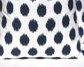 Decorative Pillows - Throw Pillow Covers - Blue Pillow - Navy Pillow - Ikat Pillow - Lumbar Pillow - Lumbar Pillow covers - Pillow covers
