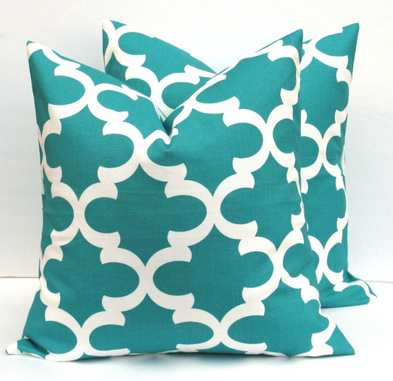 Throw Pillows Malum : Decorative Throw pillow Covers Moroccan Green Blue by EastAndNest