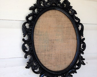 Burlap Pin Board Baroque message Board
