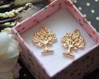 10 pcs gold   plating  tree   pendant finding