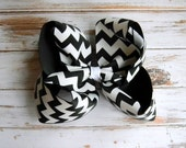 Chevron Hair Bow, Black, Girls hair bows, Boutique Hair Bow, Jumbo U choose color Girls Baby Toddler Wedding Birthday Holiday Pageant