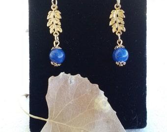 Gold Leaf Earrings.