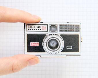 Vintage Camera Wooden Brooch