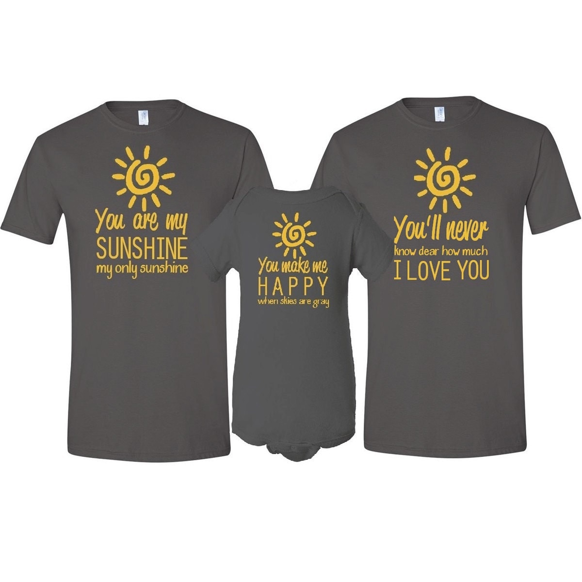 You Are My Sunshine Father Mother T Shirt Amp Son Daughter