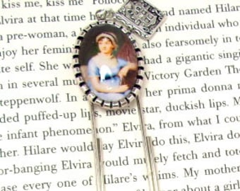 Jane Austen Charm Bookmark Large Paper Clip Style, Jane Austen Portrait, Literary Bookmark,  Altered Art Bookmark, Authors Writers