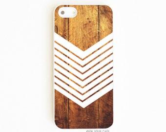 iPhone 5 Case. iPhone 5S Case. Dark Wood Geometric Chevron White. Phone Case. iPhone 5S Cases. iPhone Case. Case for iPhone 5.