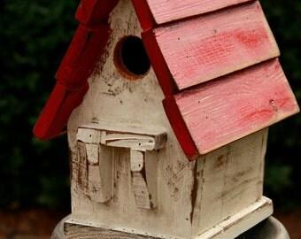 Antique Style Bird house, Victorian Bird house, Vintage Bird house, Rustic,Functional Bird house,bird house, Primitive Birdhouse