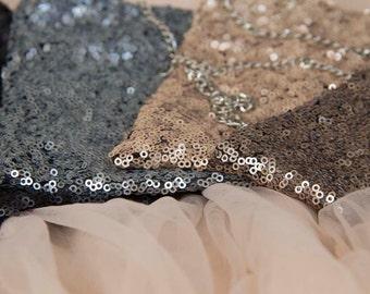 Sequin sparkling Black Handbag 4002