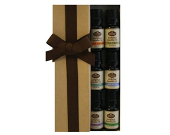 Basic Sampler Gift Set (Includes 6-10 ml Pure Essential Oils)