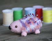 Strawberry Violet Hedgehog Pin Cushion