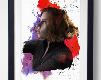 The Red in Your Ledger - Black Widow Print