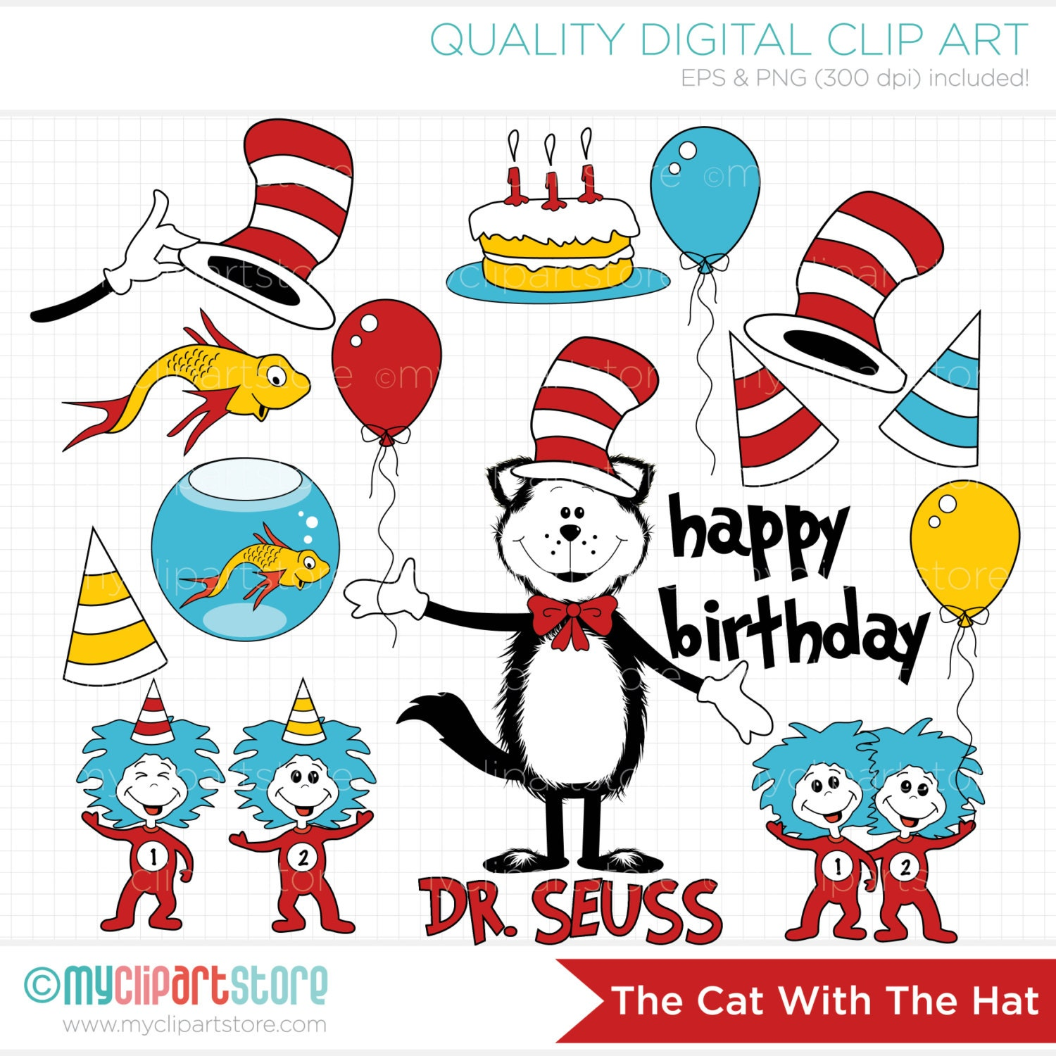 Cat In The Hat Clipart: Chandeliers & Pendant Lights