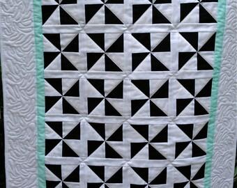 Modern Baby Pinwheels Quilt - Gender Neutral
