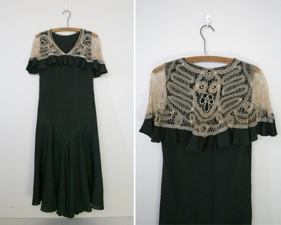 robe vintage des ann es 30 fin de la vingtaine robe. Black Bedroom Furniture Sets. Home Design Ideas