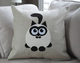 "18""x18""  'Adorable Seal Point'  Pillow COVER"