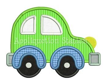Cute Hatchback Car Applique Machine Embroidery Design boy vehicle INSTANT DOWNLOAD