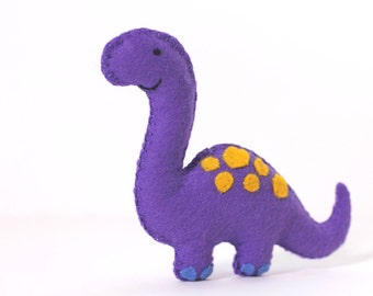 Felt Plushie Hand sewing Pattern PDF. Complete instructions to make Dippy the Diplodocus Dinosaur. Instant download.