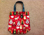 Nativity Matryoshka Dolls Christmas Bag