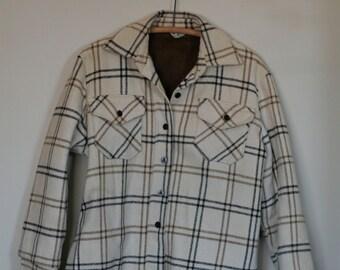 vintage women's wool shirt/jacket fleece lined by wards size S