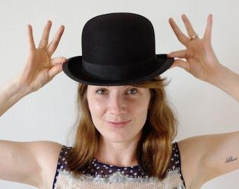 Vintage 1800's Derby Hat - Bowler Hat - Vintage Haberdashery