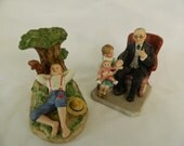 Norman Rockwell figurines, Spring Fever and Little Patient - great condition, all pads and markings are clean