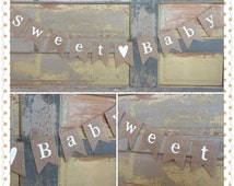 Gender neutral baby shower banner / sweet baby banner /baby shower burlap banner