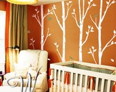 Birch Trees and Birds - Nursery Tree Wall Decal Sticker