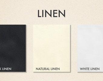 8 1/2 x 11 Cardstock - Linen - Pick A Color - Quantity of 50