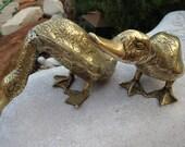 Handsome Brass Ducks Pair