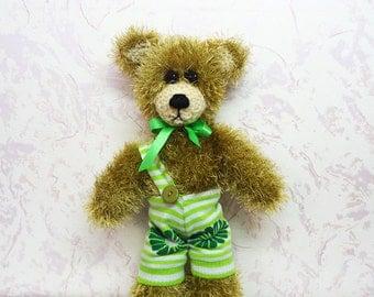 Hand Knit Toy - Soft Plush Teddy Bear