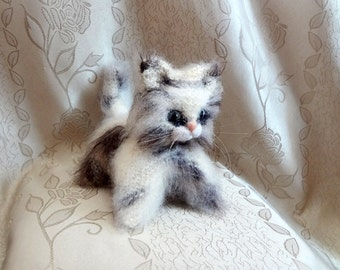 Fluffy Kitten - Hand Knit Plush Soft Toy