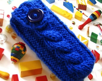 Pax 2 / 3 Case, Pax Vaporizer Cover, Mobile Phone HTC Droid DNA Cosmos 2 Nexus 7 Xperia Z iPhone 7 6 5 4 Cozy iPod Case, knit in Royal Blue