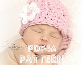 Chunky cluster hat crochet pattern - newborn to 12 months sizes - PDF46 digital download